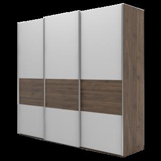 Nolte Möbel Marcato 2.4 Schwebetürenschrank Ausführung 4B mit 4 waagerechten Sprossen und Bauchbinde Korpus und Front in Farbausführung und Schrankgröße wählbar