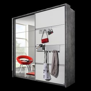 Rauch Packs Steinheim Schwebetürenschrank 2-türig mit Einhängeprofilen für Garderoben-Accesoires