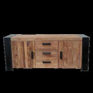 Sit Möbel CROCO Sideboard aus Teakholz mit Metall im Antikfinish Schrank im Industrie Stil