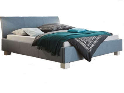 Hasena Dream-Line Bett bestehend aus Bettrahmen Aprino Kopfteil Ripo Füße Ivio Liegefläche 180x200 cm optional mit Längstraverse und Nachttisch Noma wählbar