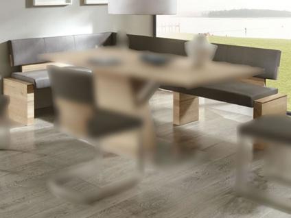 Wimmer acerro Eckbank mit Rückenlehne ca. 150 x 190 cm Sitzfläche und Rücken fest gepolstert mit Massivholzteilen für Esszimmer und Küche
