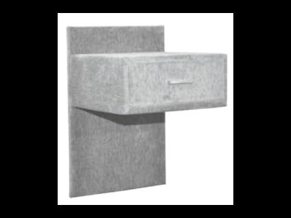 Oschmann Belcanto Beimöbel Konsole Nr. 54 mit 1 Schubkasten für Ihr Schlafzimmer mit Stoff bezogen inkl. Vorrichtung zur Wandmontage Stoffgruppe wählbar