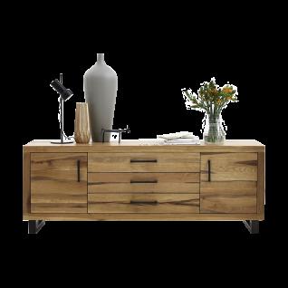 Bodahl NATURE breite Anrichte aus Massivholz Eiche Holzmöbel Wohnzimmer Öl Finish