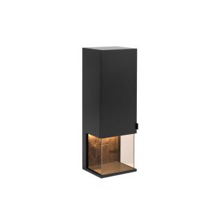 Quadrato Modena Hängevitrine 40114130 in Lack Schwarzgrau mit Altholz-Rückwand und einer Tür für Ihr Wohnzimmer oder Esszimmer