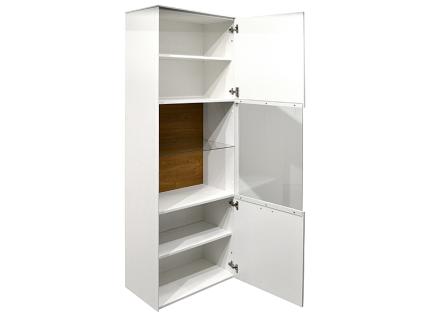 Mäusbacher Arizona Standvitrine 1GL-W für Ihr Wohnzimmer oder Esszimmer mit 3 Türen und zwei Schubkästen Dekor wählbar - Vorschau 3