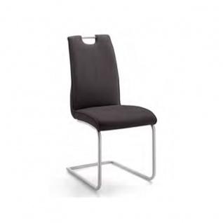 Niehoff Schwingstuhl 2881 Avatar Schwingstuhl mit Edelstahlgriff Gestell Rundrohr Edelstahl gebürstet für Wohnzimmer und Esszimmer Bezugsfarbe wählbar