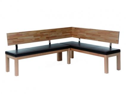 Standard Furniture Factory Eckbank Catania massive Bank mit Polstersitz für Esszimmer und Küche Größe und Ausführung wählbar