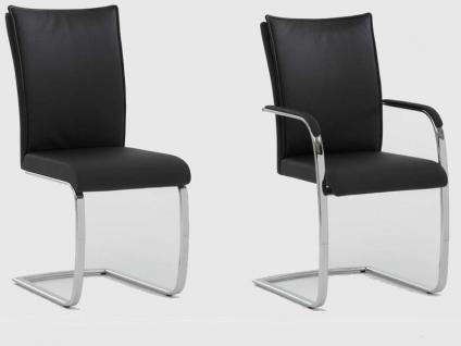 Niehoff Schwingstuhl Freischwinger 7761 oder 7762 mit oder ohne Armlehnen in Kunstleder Ausführung wählbar