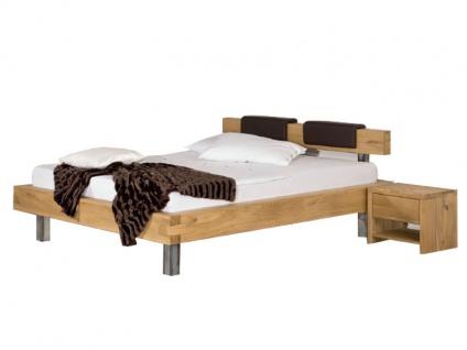 Neue Modular Primolar Bett Pino mit Kopfteil Domaso und Füße Rezzo Liegefläche 180x200 cm optional mit Kopfteilpolster und Nachttisch