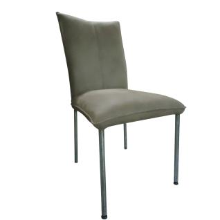 DKK Klose S64 Stuhl 640110 Vierfußgestell mit Metallbeinen Polsterstuhl mit drei wählbaren Sitzschalenvarianten Suhl für Wohnzimmer und Esszimmer Bezug in Stoff oder Leder wählbar