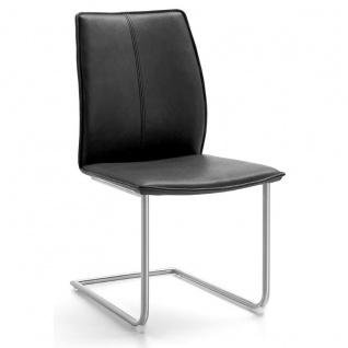 Niehoff Stuhl Capri 7341 mit Schwingstuhlgestell Rundrohr Gestellfarbe und Bezug wählbar ideal für Ihr Esszimmer - Vorschau 5