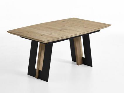 Hartmann Runa 8410 Esstisch ausziehbar inkl. eine Einlage inneliegend aus Massivholz Kerneiche natur gebürstet Tisch für Esszimmer Ergänzungseinlage à 50 cm wählbar