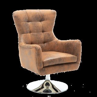 Sit Möbel SIT&CHAIRS Sessel mit Armlehnen Bezug antikbraun Vintage Stahlgestell