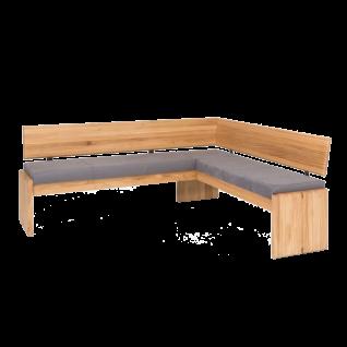 Standard Furniture Sitzbank Stockholm mit Truhe Gestell 1 Bezug SCARLETT in Nubukoptik grey Holzgestell Eiche natur - Vorschau 1