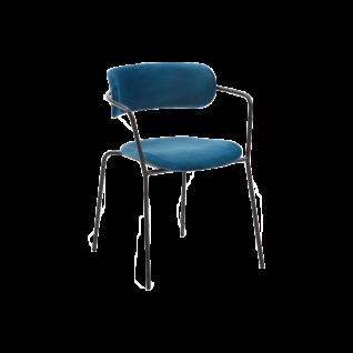 online@more by Niehoff Stapelstuhl Take off 4-er Set mit schwarz lackiertem Gestell und mit Armlehnen für Ihr Esszimmer