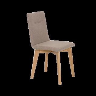 Standard Furniture Stuhl Ontario 1 Polsterstuhl mit Quernaht passend zum Modell Konstanz Polsterstuhl für Esszimmer mit 4-Fuß-Gestell in Eiche oder Buche Bezug wählbar