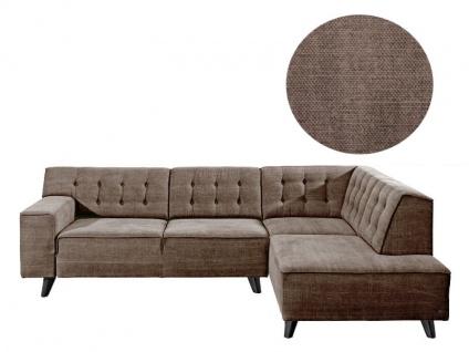Tom Tailor Ecksofa Nordic Chic Sitzgruppe bestehend aus Sofa 2-sitzig + Eckbank mit kurzem Abschluss Abbildung zeigt Stoff TUS 04 brown