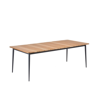 Niehoff Garden Luna Designtisch G493 mit Massivholztischplatte in Teak geölt und Untergestell Aluminium Anthrazit für Ihren Garten Größe wählbar