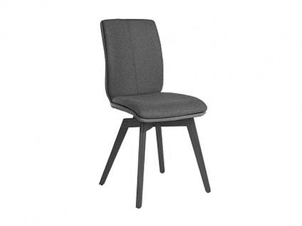 Bert Plantagie Stuhl Tara Wood Komfort 815C mit Uni-Mattenpolsterung Polsterstuhl für Esszimmer Speisezimmerstuhl ohne Armlehnen Gestellausführung Naht Reißverschlußfarbe und Bezug wählbar