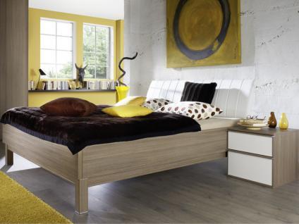 Nolte Sonyo+ Bett Doppelbett 2 Bettrahmen eckig mit Polster-Rückenlehne 2 Farbe und Liegefläche wählbar