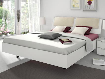Nolte Sonyo Bett Einzelbett oder Doppelbett in Schwebeoptik Bettrahmen Polarweiss