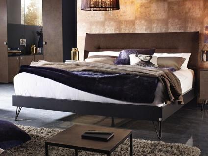 Rauch Select yourJoyce Bett mit Bettrahmen schmal und V-Fuß-Ausführung Liegefläche 180 x 200 cm und Polsterkopfteil mit Webstoff