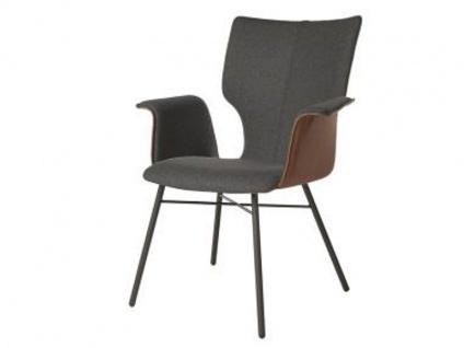 Bert Plantagie Stuhl Joni Four 732 mit Bi-Color-Polsterung (zweifarbig) Polsterstuhl für Esszimmer Esszimmerstuhl Gestellausführung und Bezug in Leder oder Stoff wählbar