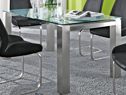 Niehoff Palma Glastisch Esstisch verschiedene Ausführungen für Esszimmer Speisezimmer Glastischsystem wählbar