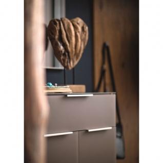 Wittenbreder Stelvio Garderobenkombination Nr. 01 komplette Garderobe für Ihren Flur und Eingangsbereich 3-teilige Vorschlagskombination im Dekor Wildeiche Basalt Glas mattiert und Karamell Dekor - Vorschau 3