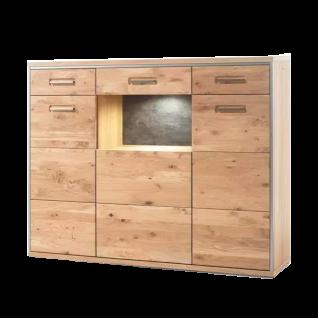 MCA Furniture Espero Highboard ESP11T05 in Ast-Eiche Bianco massiv geölt für Ihr Wohnzimmer