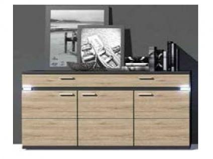 IDEAL-Möbel Boa Sideboard Type 51 mit drei Schubkästen und drei Türen Anrichte für Wohnzimmer und Esszimmer Ausführung wählbar