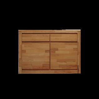 Elfo Delft Kommode 6244 mit zwei Türen und zwei Schubkästen Anrichte in Kernbuche Massivholz geölt mt viel Stauraum für Ihr Wohnzimmer Esszimmer oder Schlafzimmer