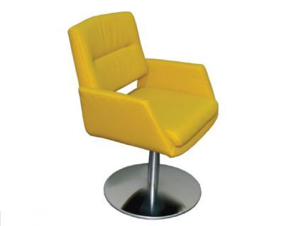 K+W Silaxx 6115 SA Drehsessel Sessel hoher Rücken mit Metallteller KW Möbel Sessel für Esszimmer Bezug wählbar Stuhlsystem H2O