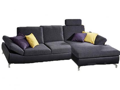 K+W Möbel Dive 7474 Longchair und Anbauelement Ecksofa Sofagarnitur Sofa Polstergarnitur Polsterecke Couch für Wohnzimmer Sofa in Bezug Stoff oder Leder wählbar