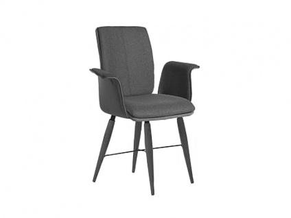 Bert Plantagie Stuhl Tara Cross Komfort 836C mit Uni-Mattenpolsterung Polsterstuhl für Esszimmer Speisezimmerstuhl mit Armlehnen Gestellausführung Naht Reißverschlußfarbe und Bezug wählbar