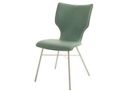 Bert Plantagie Stuhl Joni Four 712 mit Bi-Color-Polsterung (zweifarbig) Polsterstuhl für Esszimmer Esszimmerstuhl Gestellausführung und Bezug in Leder oder Stoff wählbar