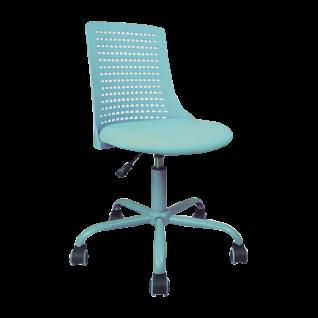 Mayer Sitzmöbel Drehstuhl türkis myCHARLY gepolsterte Sitzschale drehbar Schreibtischstuhl für Schulanfänger