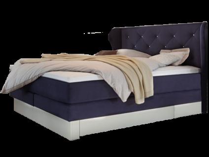 Hasena Boxspringbett Solutio Box 36 zweisektorig mit Kopfteil Florenz star Sockelunterbau inkl. 2 Bettkästen und Obermatratze wählbar im Tex-Bezug Liegefläche ca. 180x200 cm