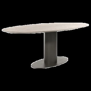 Bert Plantagie Esstisch OVAL mit ovaler Massivholzplatte Breite ca. 115 cm Tischplatten sowie Gestellausführung und Größe wählbar