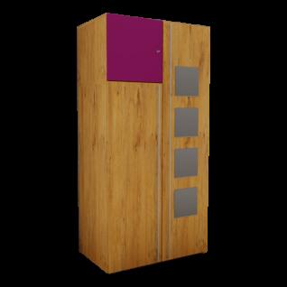 Rudolf Möbel Fiftytwo Kleiderschrank-Kombination mit 3 Türen und Spiegel Quadraten Farbe wählbar
