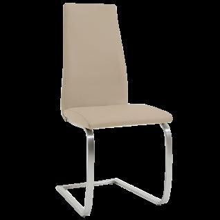 Niehoff Stuhl Freischwinger 3621 Esszimmerstuhl mit Echtlederbezug Brasil in vielen verschiedenen Farben ideal für Ihr Esszimmer