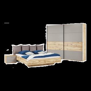 Schlafkontor Deltas Schlafzimmer bestehend aus Bett Schwebetürenschrank 2-türig inkl. 2 Nachtkommoden optional mit Kommode und Passepartout