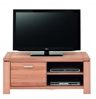 ELFO TV-Kommode GRAZ mit 1 Tür und 2 offenen Fächern, Beimöbel Kernbuche Massivholz geölt, TV-Unterschrank Art. Nr. 6969, viel Stauraum für Ihr Gästezimmer oder Wohnzimmer