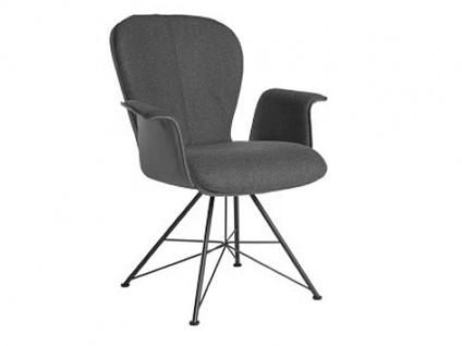 Bert Plantagie Blake Spin Komfort mit Uni-Mattenpolsterung und Armlehnen Stuhl 633C für Esszimmer Esszimmerstuhl Gestellausführung und Bezug in Leder oder Stoff wählbar