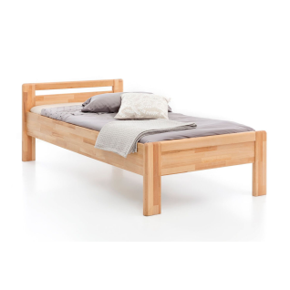 Woodlive Seniorenbett Paul in Kernbuche Massivholz natur geölt Liegefläche wählbar für Ihr Schlafzimmer oder Gästezimmer