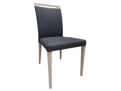 DKK Klose Stuhl S44 mit Griff auch zweifarbig mit Komfortschaumpolsterung im Sitz und Gummigurtpolsterung im Rücken Stuhl für Wohnzimmer und Esszimmer Bezug in vielen Stoffen und Echtleder wählbar