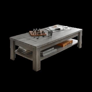 Wohn-Concept Granada Couchtisch Type 2T543W02 ca. 130 x 65 cm Wohnzimmertisch mit Ablagefach für Ihr Wohnzimmer Korpus Haveleiche Nachbildung