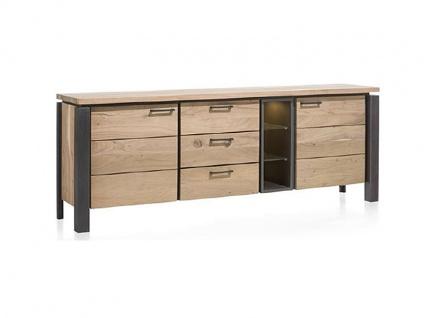 Habufa Charleston Sideboard 36180 mit 2 Türen 3 Schubladen und 3 Nischen ca. 190 cm breit inklusive LED Beleuchtung für Ihr Wohnzimmer oder Esszimmer