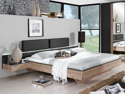 Rauch Bett Colette Dialog für Schlafzimmer mit Paneel-Kopfteil - Größe, Betthöhe, Front / Korpus und Hängenachttisch wählbar