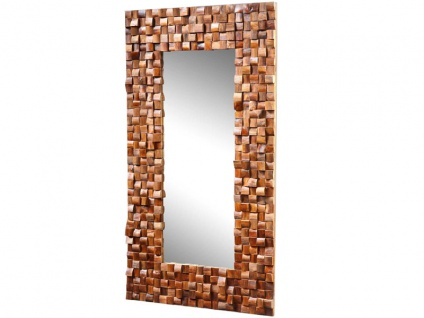 "Die Faktorei by Infantil Spiegel "" Beau"" mit Rahmen aus massiven recyceltem Teak-Holz"
